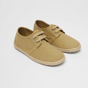 • Zara • Jute Foxing Cotton Sneakers